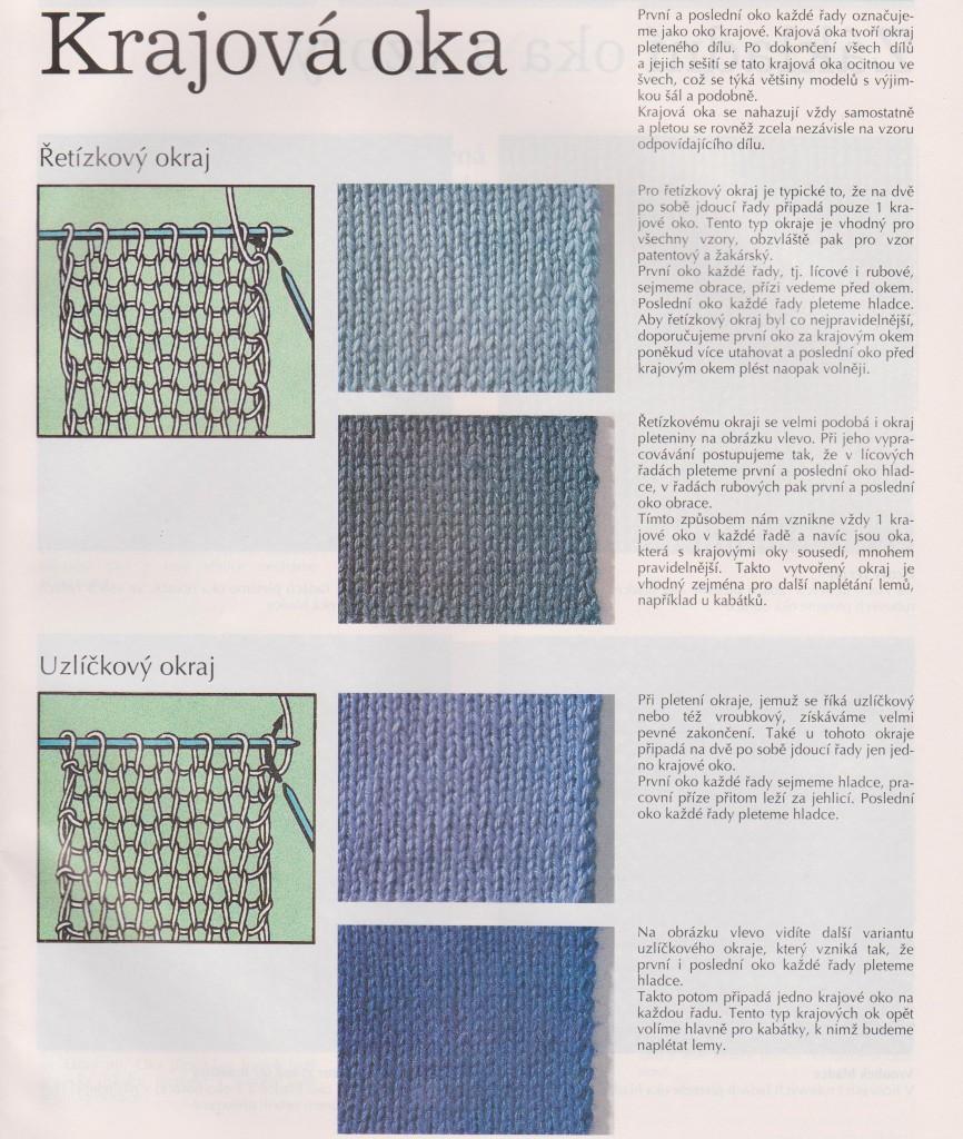 Вязание кромочных петель спицами